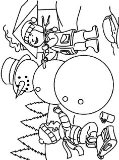 Making a Snowman coloring page