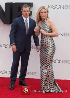 Matt Damon and Julia Stiles The European premiere of 'Jason Bourne' held at… Jason Bourne, Julia Stiles, London United Kingdom, Leicester Square, Matt Damon, Prom Dresses, Formal Dresses, Hollywood Stars, Actors & Actresses