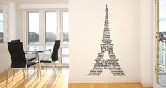 Are you in love with Paris? So are we! Decorate your space with this elegant Eiffel tower that displays all things French: from famous attractions, landmarks to qualities that only the city of lights has. Starts at $38.