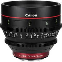If only. Canon CN-E 24mm T1.5 L F Cine Lens. The aperture is a fast 1.5 and lets you get superior shots in low light.  http://www.opas.com