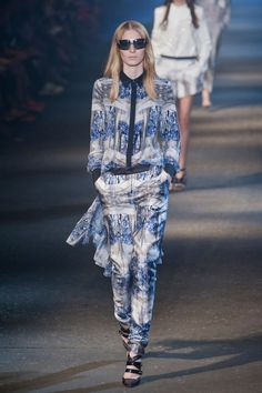 Prabal Gurung Spring 2013: Head to toe print never looked so good...