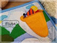 The pelican, the pelican. His beak holds more than his bellycan. Infant Activities, Book Activities, Activity Books, Felt Mushroom, I Like Birds, Felt Quiet Books, Sick Kids, Busy Book, Book Pages