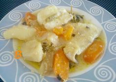 Μπακαλιάρος λεμονάτος κατσαρόλας Greek Recipes, Fruit Salad, Allrecipes, Food And Drink, Fish, Meat, Chicken, Cooking, Breakfast
