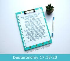 Deuteronomy 17:18-20 Printable