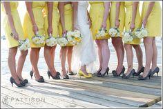 Yellow & Gray (Molly & Eric - Newport, RI Wedding Photographer - Pattison Photography)