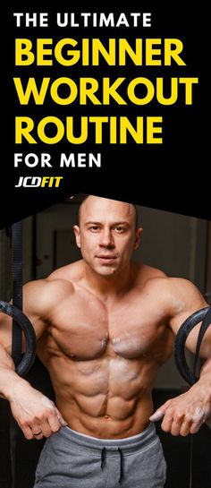 Use this men's beginner muscle gain routine to build as much muscle as possible. #muscle #bodybuilding #mensmuscle #menshealth #mensfitness #fitness #workouts #mensworkouts #mensworkout #musclebuilding #musclegain #workoutroutine