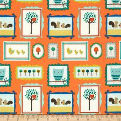 Riley Blake Road Trip Flannel Scenic Critters Orange from @fabricdotcom  Designed by Deena Rutter for Riley Blake Designs, this single napped (brushed on face side only) flannel is perfect for quilting, craft projects, apparel and home décor accents. Colors include green, white, aqua, blue, yellow, brown and orange.