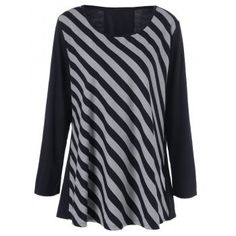SHARE & Get it FREE | Plus Size Striped Patchwork TeeFor Fashion Lovers only:80,000+ Items·FREE SHIPPING Join Dresslily: Get YOUR $50 NOW!