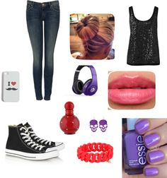 """tenue 16"" by feriel-styles ❤ liked on Polyvore"