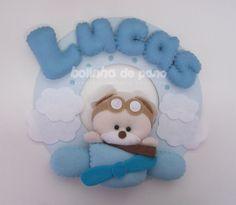 Enfeite Porta Maternidade Urso Aviador