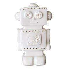 Op zoek naar mooie lampen voor de jongenskamer? Deze nieuwste creatie van het Duitse merk Heico in de vorm van een robot is een musthave voor de jongenskamer.