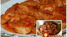 Čertova zmes: Jemne pikantné mäsko s cesnakom a vynikajúcou omáčkou – pekelne dobré! Chicken, Meat, Food, Red Peppers, Cooking, Essen, Meals, Yemek, Eten