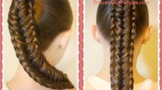 Twisted Edge Fishtail Braid, Hair Tutorial
