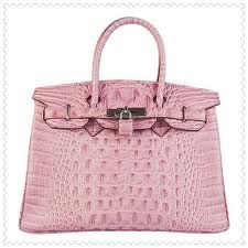 Cheap Replica Hermes Birkin Crocodile Head Veins Leather Bag Pink 6088 Go  For Sale a3afad5c7af1d