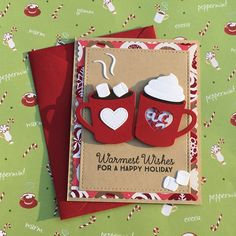Handmade Christmas Greeting Cards with Unique Design Inspirational Holiday Hot Cocoa Scrapbook … Diy Christmas Cards Homemade Christmas Cards, Homemade Cards, Christmas Diy, Cricut Christmas Cards, Diy Holiday Cards, Christmas Card Making, Scrapbook Christmas Cards, Creative Christmas Cards, Chrismas Cards