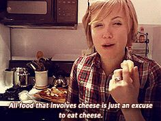My Drunk Kitchen with the truth about cheese.
