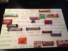 Made this Candy Card for my best friends birthday!!