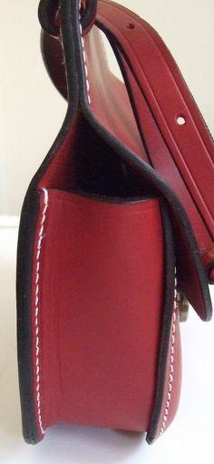 Mackenzie of Edinburgh Handmade Red Leather Saddlebag Shoulder Bag | eBay