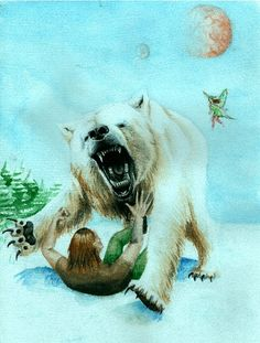 Entry 20: 'Fandri and the White Bear'   in watercolour by Brighid Walton #fantasy #art