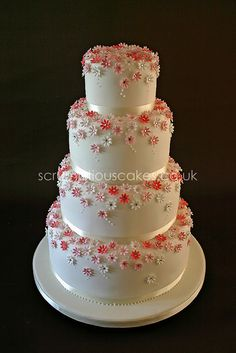 Wedding Cake - Pink Daisies & Diamantes by Scrumptious Cakes (Paula-Jane)