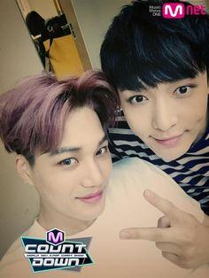 150604 Mnet M!Countdown Update - Kai & Lay