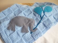 Knitted heirloom christening blanket  boys  blue by bekaboodesigns, £25.00