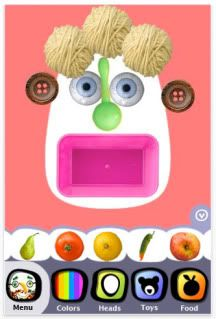 Faces iMake art app for kids for iPhone and iPad- by chidren's illustrator Hanoch Piven