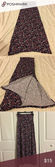 Long skirt Long floral skirt with split down both side .. Never been worn in great condition Charlotte Russe Skirts Maxi