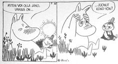 """Moomin: """"How is it possible to be thirsty when you've been drinking all night?"""""""