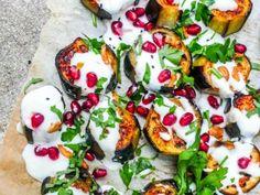 Aubergine med sitronyoghurt - oppskrift / Et kjøkken i Istanbul
