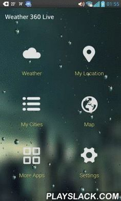 Weather 360 Live  Android App - playslack.com , Meet Weather 360 Live. The most beautiful weather app. Ever.Don't let bad weather take you by surprise! Enjoy detailed forecasts and weather widgets. Set the live weather conditions on your home screen and be aware of any weather (climate) that is coming your way. Whether it is cloudy, rainy, snowy or even stormy outside, Weather 360 Live will provide you with current weather conditions and forecast in your city and multiple locations all…