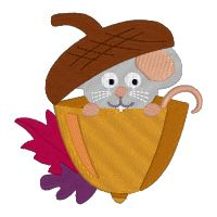 How adorable is this mouse in his acorn?  Its #FREE!