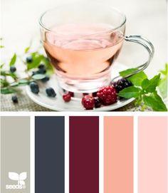 Yet another beautiful colour palette by Design Seeds. Colour Pallette, Color Palate, Colour Schemes, Color Combos, Maroon Color Palette, Design Seeds, Marsala, Pantone, Palette Design