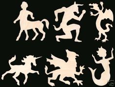 Mythical Creatures Natural Craft Wood Cutout