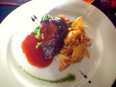 Tederloin with BBQ sauce.