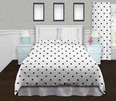 Black and White Bedding, King Size Duvet Cover