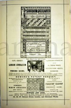 1870 Antique English Advertisement / Advert. by bananastrudel