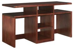 $383  Dimensions: 52W x 19D x 29.25H inches Somerton Studio Sofa Table - Mid-Tone Brown Mahogany - Console Tables at Hayneedle