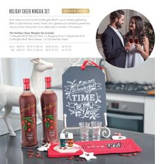 Add delicious and nutritious NingXia Red®️ to your festive gathering! With a Club Red bar towel, classic shot glasses and refreshing essential oils, you'll be mixing the most talked-about drinks of the season.The Holiday Cheer NingXia Set includes:1 x NingXia Red®️ 750 ml 2 Pack1 x Tangerine 5 ml1 x Spearmint 5 ml2 x NingXia Red®️ Shot Glasses1 x Club Red Bar Towel