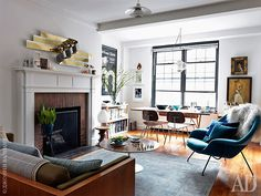 stylist and designer Marcus Hay's home in New York / Architectural Digest Russia
