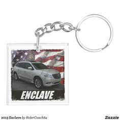 2013 Enclave Double-Sided Square Acrylic Keychain