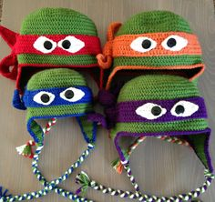 c470191cf8f Teenage Mutant Ninja Turtles Hat by JillsHandmades on Etsy Crochet Kids Hats