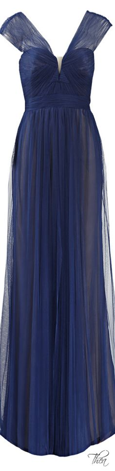 Monique Lhuillier Spanish Tulle Gown   The House of Beccaria~
