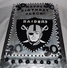 Mandy's cakes: Raiders football cake