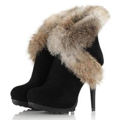 Designed Casual  Fur Ankle-boot Ankle Boots from fashionmia.com