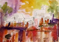 Abstract Sheep by Artist Delilah Smith