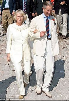 Charles and Camilla visiting villages in Pakistan in 2006.