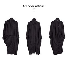 The Shroud Jacket. One of our favourite pieces from this season but forever timeless. Made from beautiful Japanese wool-blend fabric extremely light perfect for travelling with various options to be worn to suit each wearer. Only 10 of this garment were produced for your exclusivity. We don't go on sale in store or online so go to our online store now to avoid missing out. http://ift.tt/29KsH2H Receive a complimentary Et Al tote bag when you make any online purchase over $1000 limited time…