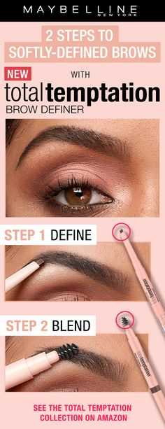 a221682f3bd Get softly defined, natural looking brows with NEW Total Temptation Brow  Definer. Use the unique teardrop shaped applicator to apply and use the  spoolie end ...