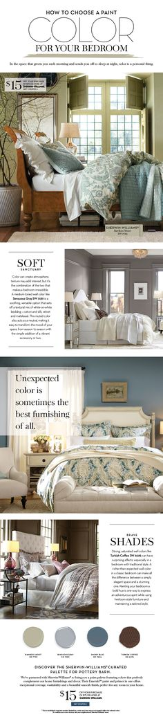 Choose a Paint Color For Your Bedroom   Pottery Barn